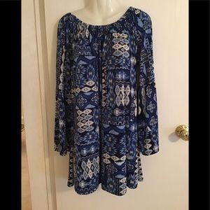 West Loop dress mini XL bell sleeves blue designs